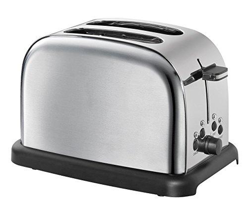 Cilio Retro Toaster, Edelstahl, Silber, 32 x 23 x 21 cm