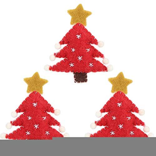 Censhaorme Rat/án Bricolaje Puerta de la Navidad Colgantes en Forma de coraz/ón Decoraci/ón Adornos Colgantes de Navidad del Partido Ronda del hogar del /árbol