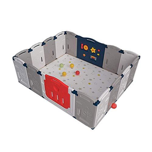JALAL Parque infantil, protección de seguridad, centro de actividad, zona de juegos para interiores, cerradura para puerta exterior, valla plegable