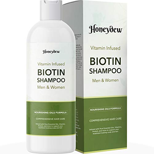 Biotin Shampoo for Thinning Hair Care - Biotin Hair Shampoo for Damaged Hair and Nourishing Hair Moisturizer for Dry Hair - Sulfate Free Shampoo with Biotin Keratin and Coconut Oil for Hair Volume