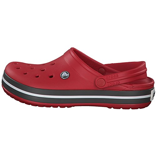 Crocs Crocband U, Zuecos Unisex Adulto, Rojo (Pepper), 42-43 EU