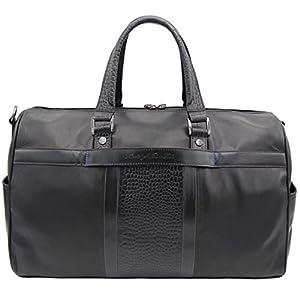 "ROBERT GRAHAM Men's Duffel Bag w/ 6 Pockets, RG Crossbody, Carry on, ""Chatsworth"" Black Leather, One Size"
