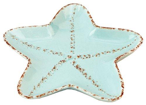 Coastal Shaped Starfish Tidbit Serving Salad Ceramic Plate