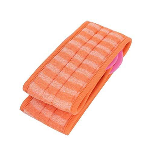 NaisiCore Exfoliantes de lufa Volver depurador con Extra Grande Luffa Natural Reduce la Piel de la gestión de acné Baño Cepillos de Orange