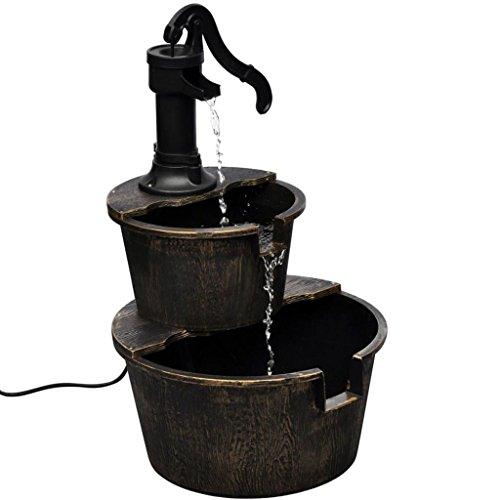 Plaque avec motif de pompe de puits
