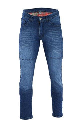 BUSA Black Tab Motorrad-Jeans Made with DuPont Kevlar Stretch Denim für Damen,Motorradrüstung im modernen Slim Fit Blau, 38W 32L