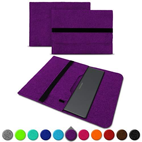 UC-Express Sleeve Hülle für Medion Akoya S3409 E4254 S4219 E3216 E3215 E3223 E4253 13-14 Zoll Tasche Filz Notebook Cover Etui Case, Farbe:Lila