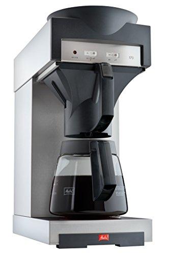 Melitta Filterkaffeemaschine mit Glaskanne, 1,8 l, Warmhalteplatte, 17M, Edelstahl/Schwarz