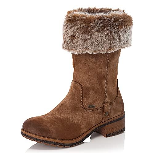 Rieker Damen Winterstiefel 96854, Frauen Stiefel,wasserdicht,riekerTEX,Woman,Lady,Ladies,Boots,Winterstiefel,Winterschuhe,braun (24),40 EU / 6.5 UK