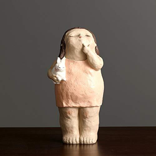 Statues Sculpture Figurines Statuettes,Kreative Harz Schöne Rosa Dicke Frauen Puppe Bild Kunst Figur Skulptur Sammlerstücke, Schmuck Desktop Handwerk Kunst Dekor Statuetten Für Innen Wohnzimmer V