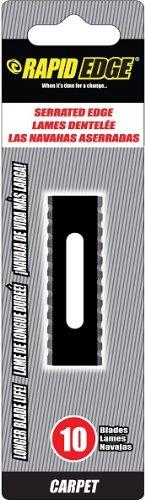 Rapid Edge Long-Lasting Rapid Edge Serrated Carpet Blades (10 blades), 1-Pack