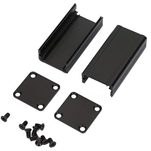 Aluminium-Kühlbox, schwarzes Aluminiumgehäuse Leiterplattengehäuse Elektronische Kühlbox für elektronische Produkte Mobile Stromversorgungsinstrumente