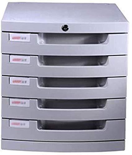 Ablagesysteme Schreibtisch-Speichereinheit Organizer Erdrutsch Spur Schublade Desktop-File Cabinet Intelligent Design Multi-Layer-Raum aus Kunststoff - 30 * 38 * 31.5cm Bürobedarf Schreibwaren