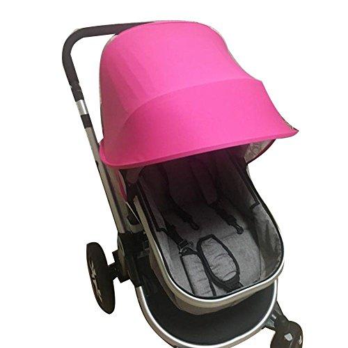 Bébé Poussette Universel Parasol Ray Shade Pram UV Protection Couverture, Météo Shield, Tissu Élastique Pour Les Enfants-Simple, 4 Couleurs, Rose