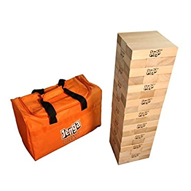Jenga GIANT JS7 Hardwood Game (Stacks to 5+ feet. Ages 12+)