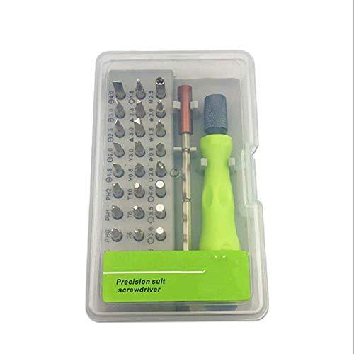 COUYY 32-en-1 Kit de reparación Multifuncional de precisión, Relojes, teléfonos móviles, Gafas, desmontaje y reparación de Herramientas de Uso doméstico