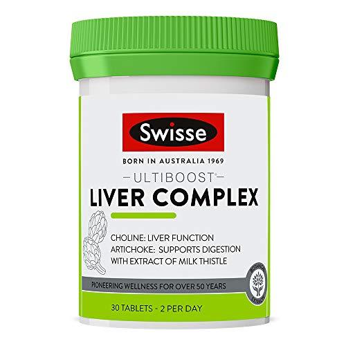 Swisse Ultiboost Liver Complex Tablets | Liver & Digestion Support | Vegan Supplement | 30 Tablets