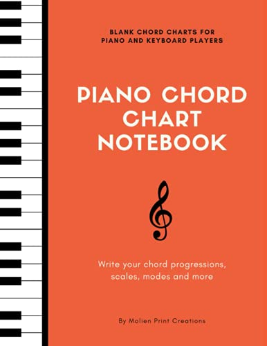 Compare Textbook Prices for Piano Chord Chart Notebook - Blank Piano Keyboard Diagrams Charts for Musicians and Composers - 100 pages - 8.5x11  ISBN 9798539931704 by Creations, Molien Print