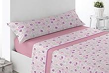 Energy Colors Textil-Hogar - Delfy - Juego Sábanas Completo Estampadas (Beige, 150_x_200_cm)
