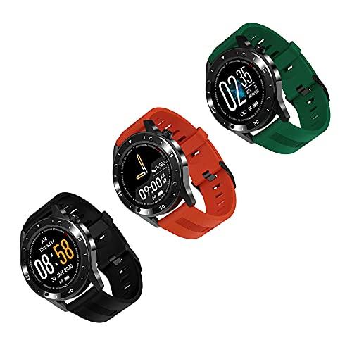 LXFMZ Smart Watch, Women Activity Step Monitor Monitor Sleep Monitor, Fitness Tracker con Reloj Inteligente Contador De Calorías (3 Piezas),Multi Colored,13 * 47 * 265m