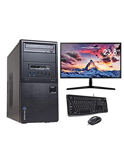 Ankermann Business Office Work Bundle PC Intel CPU 2X 2.70 GHz Dual Core HD Graphics 8GB RAM 480GB SSD 500GB HDD Windows 10 Pro TFT 23,8 Full HD Keyboard Mouse