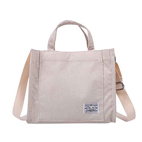 Women Shoulder Bag Satchel Elegant Large Backpack Vintage Stylish Casual Simple Travel Beach Messenger Bag(White)