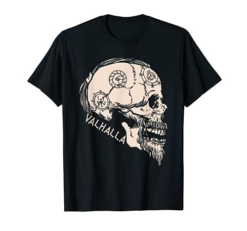 Viking Skull Valhalla Odin Nordic Norse Thor Mythology Camiseta