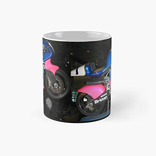 Britten Race - Taza de café con diseño de motocicleta