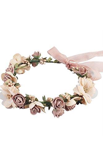Babyonline® Blumen Stirnband Hochzeit Haarkranz Blume Krone