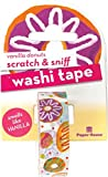 Paper House Productions Dozens of Donuts Vanilla Scented Scratch & Sniff Fun Print 15mm Washi Tape for Crafts and Scrapbooking