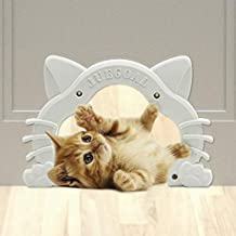 Juegoal Interior Cat Door Kitty Shaped Hole Pet Door for Cat and Small Pets, Fits Inside Door Hides Litter Box Furniture