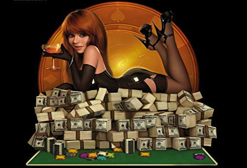 NWFS FS Pinup Girl Casino Pokertafel metalen bord bord Metal Tin Sign gewelfd gelakt 20 x 30 cm