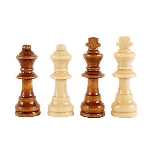 78Henstridge Schachspiel Schach Schachbrett Holz,Schach klappbar Schachbrett,Wooden Chess Set für Familie Geschenk Reisen Kinder und Erwachsene (29X29cm)