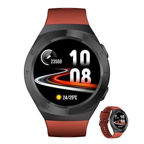 BNMY Smartwatch Reloj Inteligente con Pulsómetro,Cronómetros,Calorías,Monitor De Sueño,Podómetro Monitores De Actividad Impermeable IP68 Smartwatch Hombre Reloj Deportivo para Android iOS,B