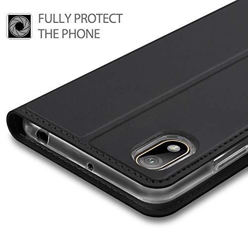 GEEMAI für Huawei Y5 2019 Hülle, für Huawei Y5 Prime 2019 Hülle, handyhüllen Flip Hülle Wallet Stylish mit Standfunktion und Magnetisch PU Tasche Schutzhülle passt für Huawei Y5 2019 Phone, Schwarz - 2
