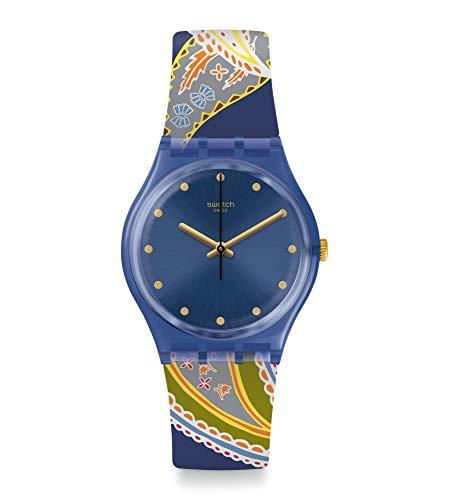 Swatch Reloj Analógico para Mujer de Cuarzo Suizo con Correa en Silicona GN263