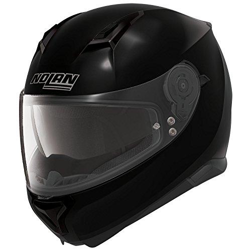 Nolan Motorradhelm, Vollvisierhelm, Integralhelm N87 Classic n-com Glossy Black #3 3XL, Unisex, Sportler, Ganzjährig, Thermoplast, N87000027003X, Metal Weiß