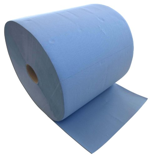 Putzrolle blau 3-lagig 1000 Blatt 36x36 cm perforiert saugstark Reinigunstücher Putzpapier Wischtücher