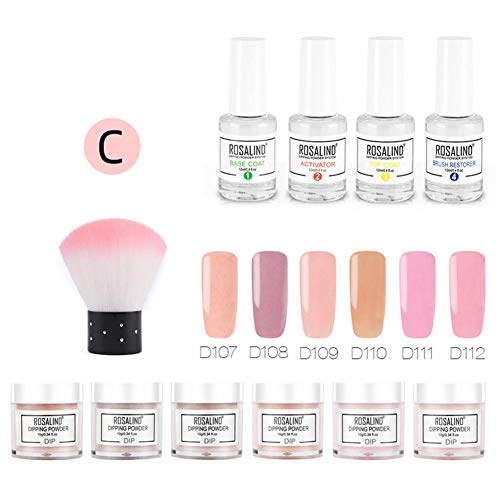 Dip Powder System Starter Nail Kit Dipping System, Dipping Powder Nail Kit met 6 kleuren Glitter voor French Nail Manicure nail art Set Essential kit
