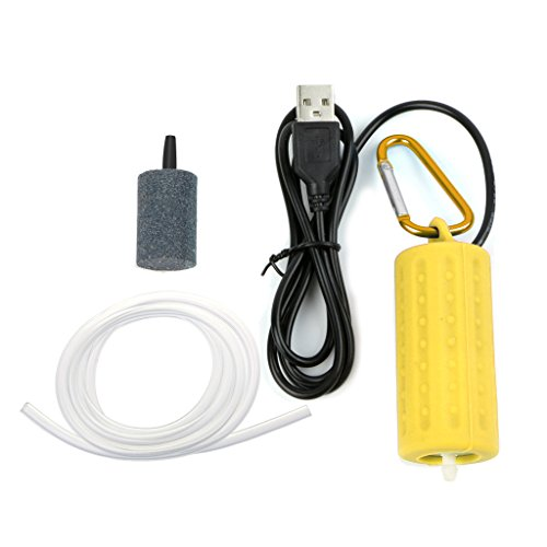 siwetg Portable Mini USB Aquarium Fish Tank Oxygen Air Pump Mute Energy Save Compressor USB Oxygen Pump