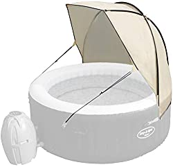 Hot tub canopy that allows you to enjoy your Lay-Z-Spa in more comfort than ever before - suitable for all Lay-Z-Spas An easy to set up, hassle free wind and sun shield for your spa - clips right on to your Lay-Z-Spa Waterproof fabric with UPF 30+ pr...