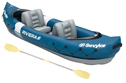 Sevylor Kayak Gonflable Riviera, Canoë Canadien 2 Places, Kayak de Mer, 312 x 92 cm, Pagaie Incluse