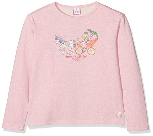 Prinzessin Lillifee by Salt & Pepper Mädchen Sweatshirt L Sweat Lillifee Kutsche, 75611260_808, Rosa (Powder Rose Melange 808), 116/122