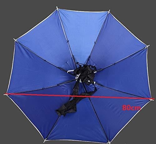 NJSDDB paraplu Handige 80CM Grote Hoofd Paraplu Anti-UV Anti-regen Outdoor Reizen Vissen Paraplu Hoed Draagbare Vouwparaplu Mannen Vrouwen