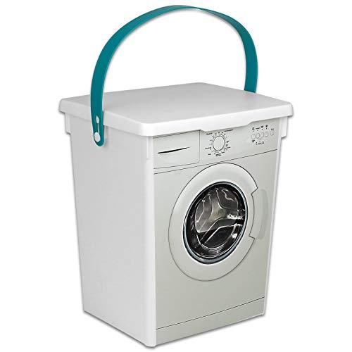 TW24 Waschpulver Box 5L Waschmittelbox Kunststoff Waschmittelbehälter für Pulver Waschmitteldose