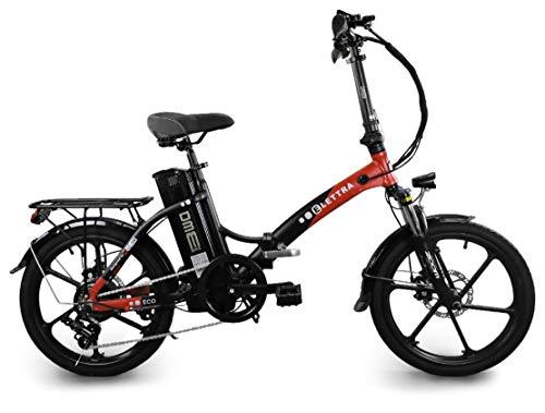 dme bike Bicicletta Elettrica Pieghevole a Pedalata Assistita 20'€ 350W Minturnae V1.0 Grigio/Rosso