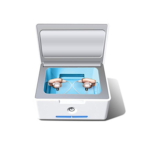 Portable Trockenbox Trockenstation zur Hörgeräte-Trocknung 360° UV-C Licht - 99,9% Keimbeseitigung