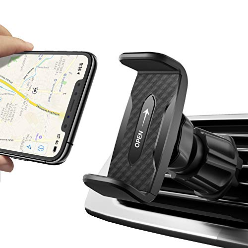 MIRACASE Car Phone Mount Air Vent Cell Phone Holder for Car,Easiest Time-Saving Car Mount Compatible iPhone 11 Pro Max X XR XS Max 8Plus 7,Samsung S10 S9 S8 LG Google Pixel Nexus Nokia and More