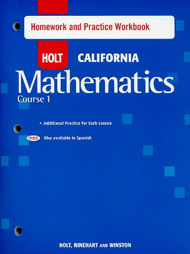Holt Mathematics: Homework and Practice Workbook Course 1