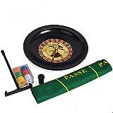 MiOYOOW Juego de ruedas de ruleta rusa, 10 pulgadas, ruleta de mesa, juego de fiesta, ruleta para adultos